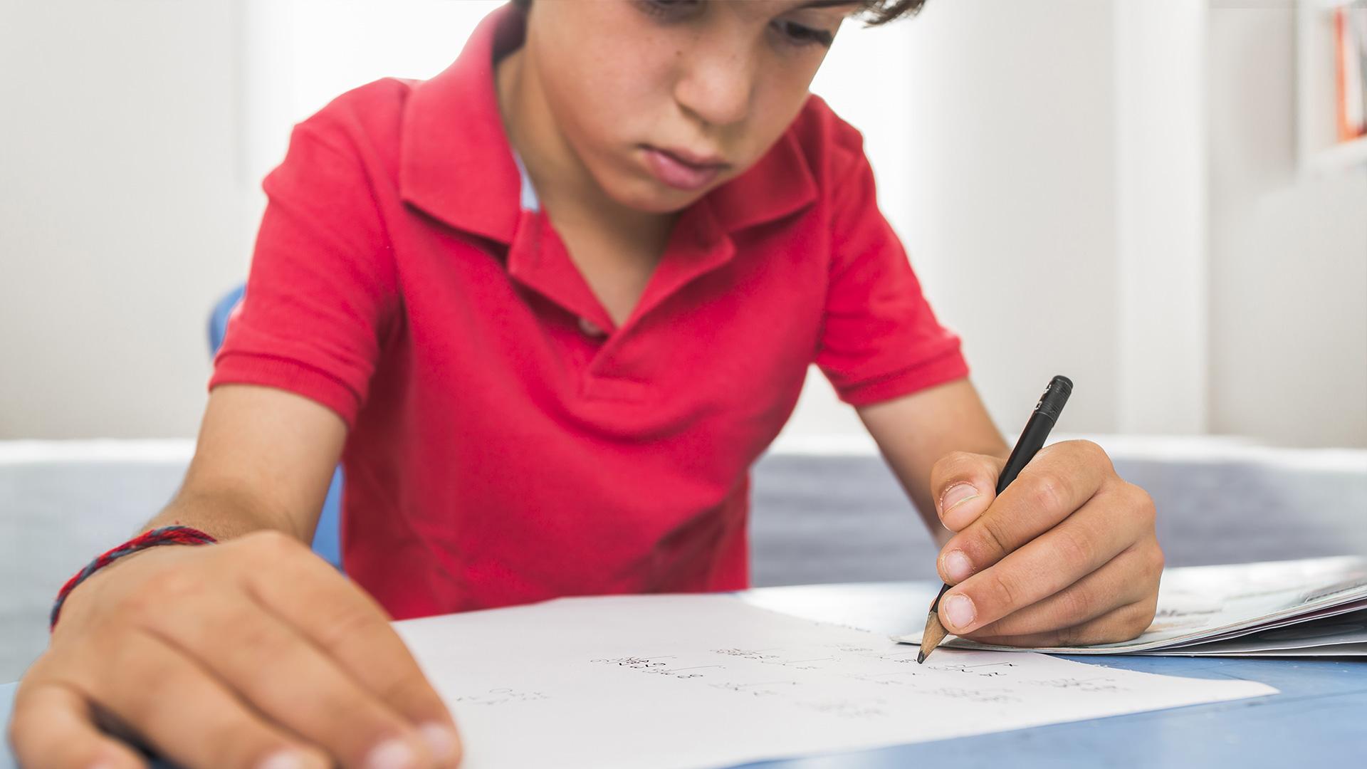stress enfant écriture